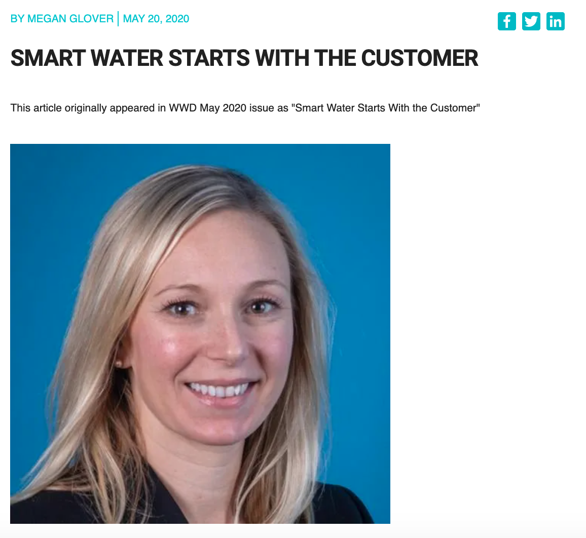 Smart Water Starts With The Customer – Megan Glover featured in WWD Magazine