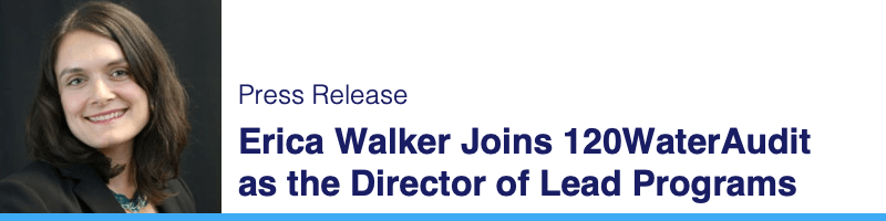 Walker Joins 120Water as the Director of Lead Programs